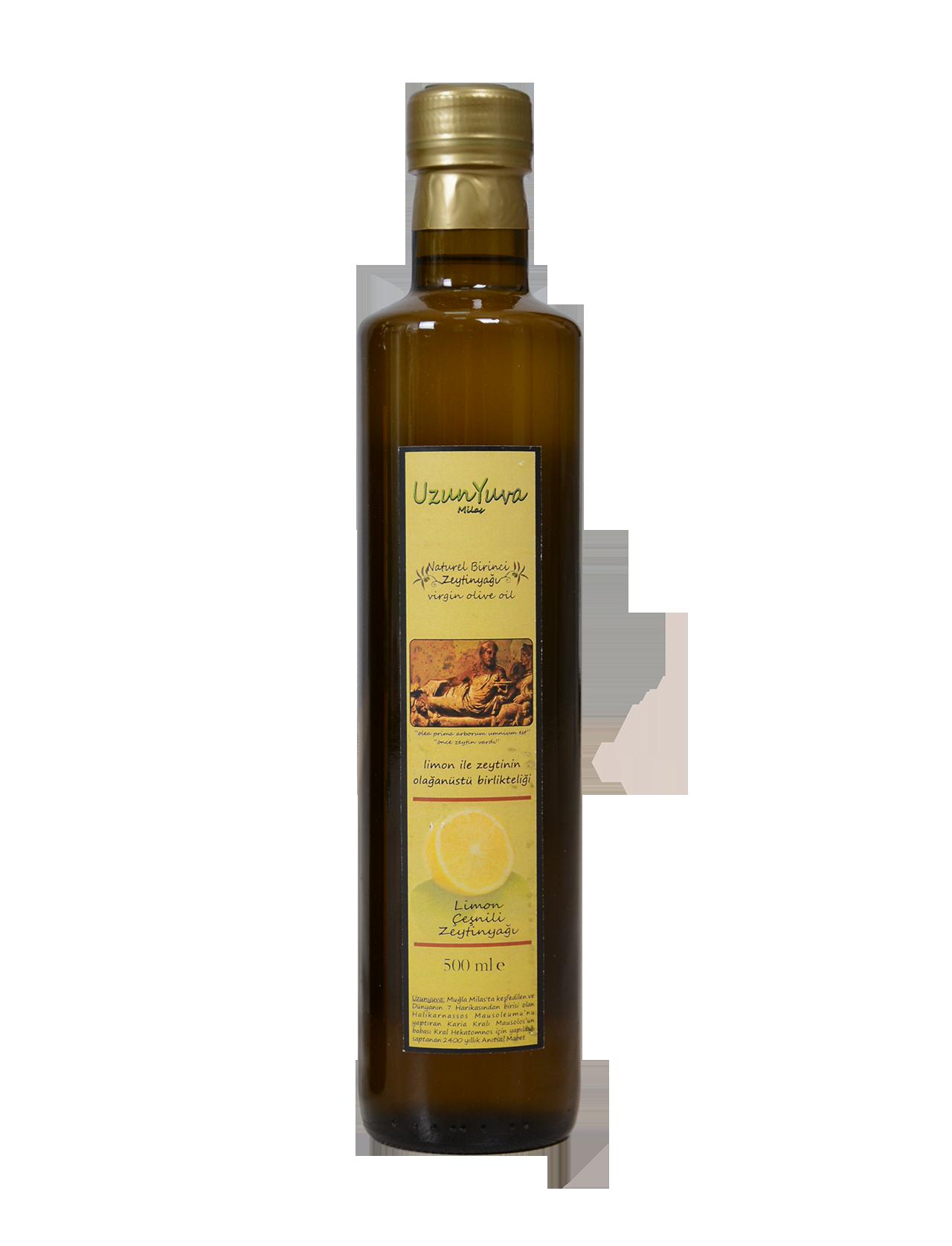 Uzunyuva Limon Çeşnili Zeytinyağı (0.5 Lt)